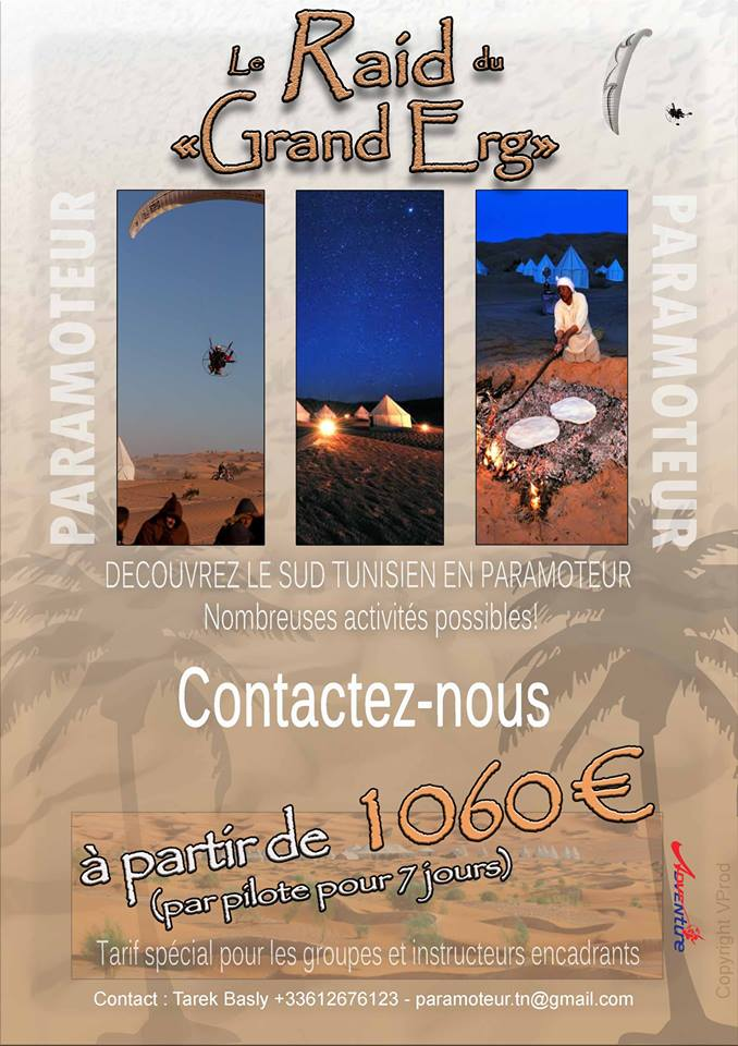 Raid Paramotore Tunisia