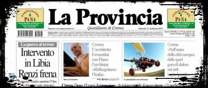 La provincia_prima pagina 17 febbraio 2015