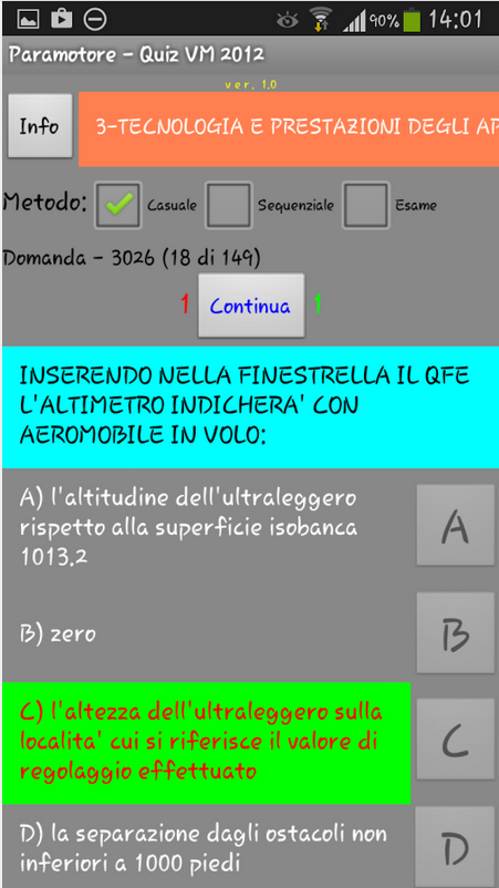 screenshot quiz paramotore