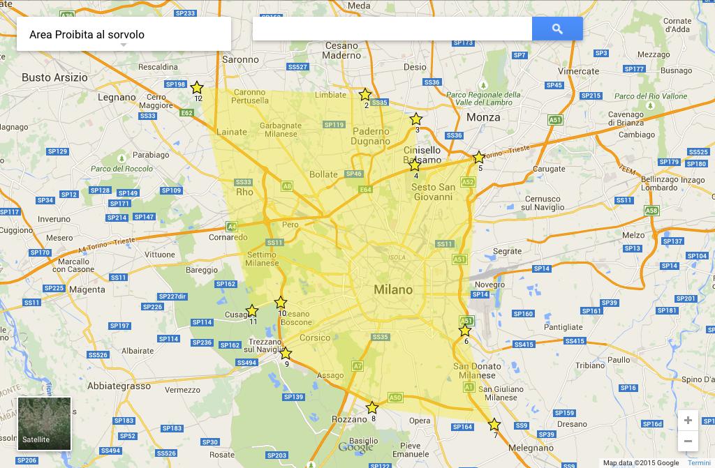 Area proibita al sorvolo - Expo Milano 2015